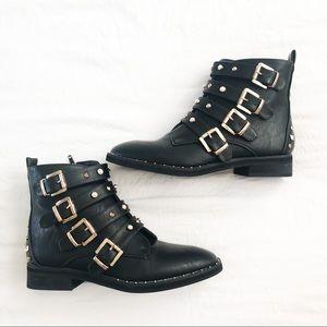 Olivia Miller Chic Ankle Boots Black